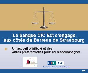 La banque CIC Est s'engage aux côtés du Barreau de Strasbourg
